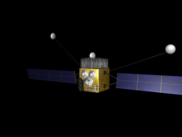 satellite space 3d model