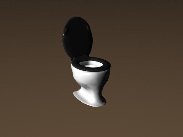 free dxf model toilet standard