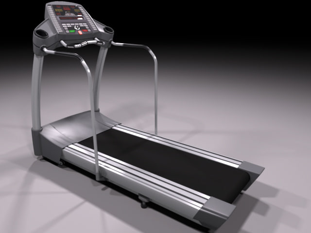 high-poly treadmill 3d max
