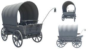 3d western wagon