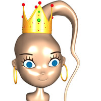 cute queen female girl woman 3d 3ds
