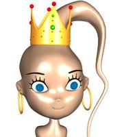 cartoon  Alien Queen