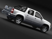 chevrolet avalanche pickup 3d model