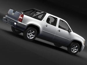 chevrolet avalanche pickup 3d model