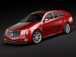 cadillac cts sport wagon 3ds