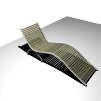 3d model pool chair
