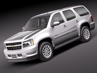 3ds max chevrolet tahoe hybrid 2010