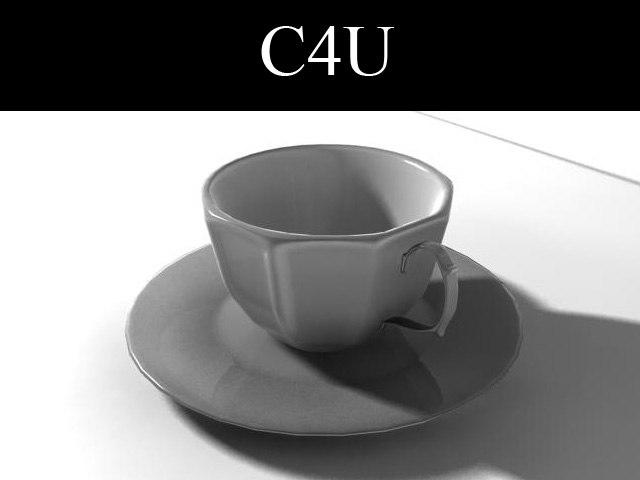 3ds cup plate tea set