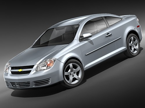 3d model chevrolet cobalt coupe sport