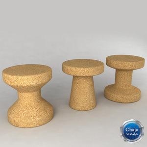 family stool morrison - 3ds