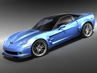 Chevrolet Corvette ZR1 mid-poly