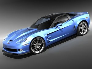 3ds max chevrolet corvette zr1 sport