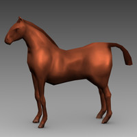 blender brown horse animations