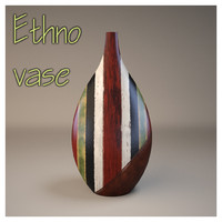 Ethno vase and plate