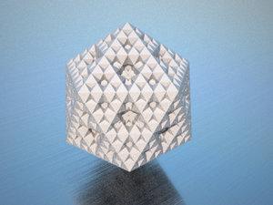 procedurally fractal icosahedron 3d 3ds