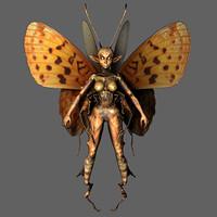 butterfly fairy 3d model