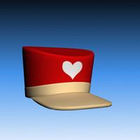 3d girl cap