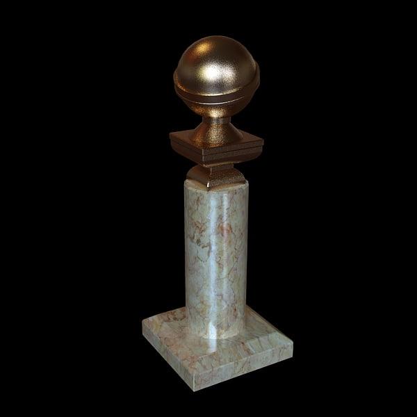 golden globe awards 3d model