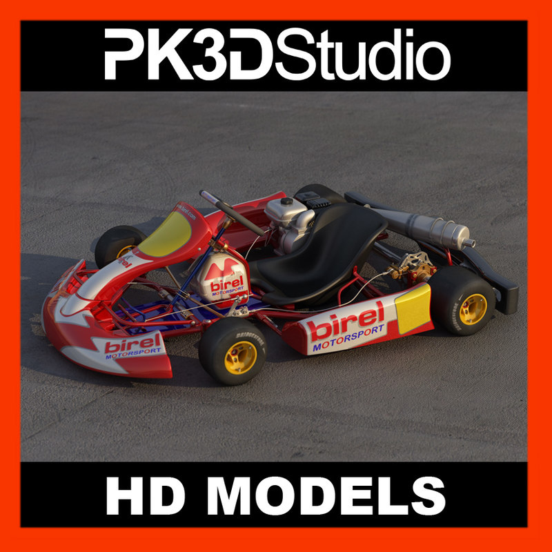 birel gokart 3d model