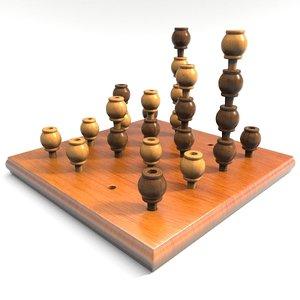 3d model board gomoku