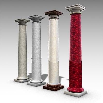 Ancient Roman Column Tuscan Ma Free