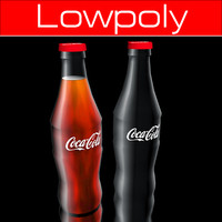 Coca Cola Bottle lowpoly