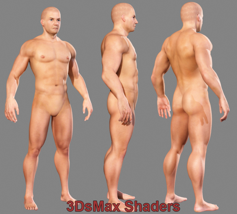 maya realistic male body