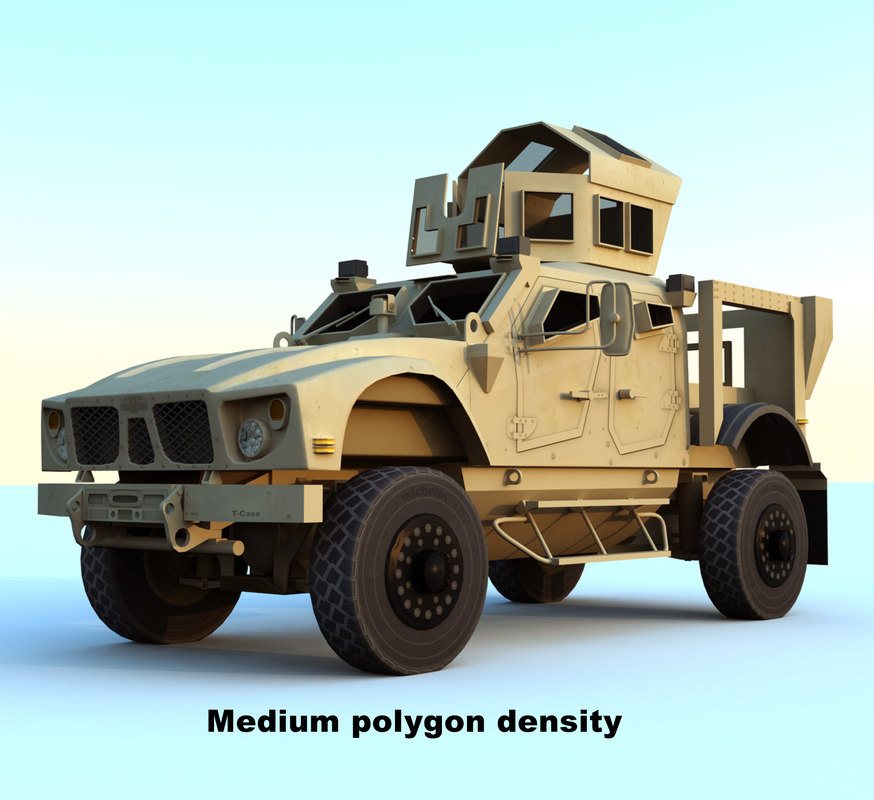 m-atv mrap vehicle 3d model