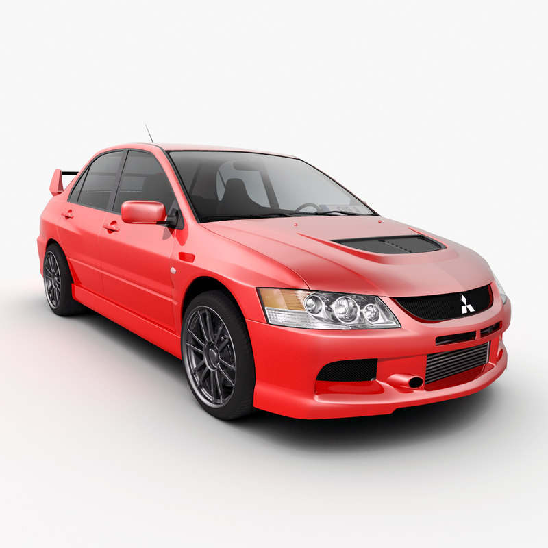 3d mitsubishi lancer evolution 9 model