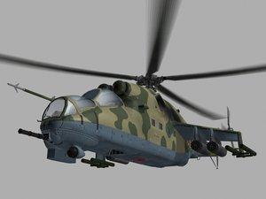 mi 24 soviet helicopter 3ds