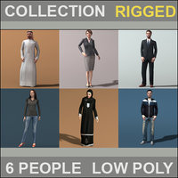 People Collection Rigged