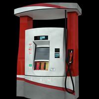 3d modern fuel pump model