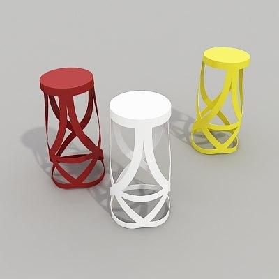 3ds ribbon stool