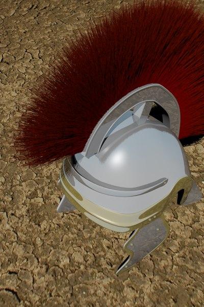 ancient roman helmet 3d model