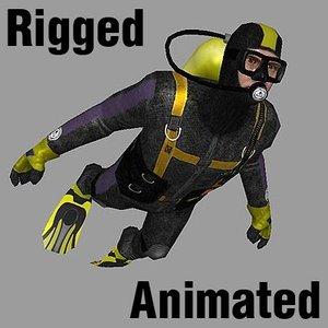 diver games realtime 3d model