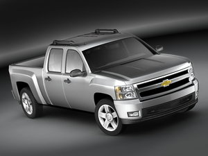 chevrolet silverado pickup crew 3d model