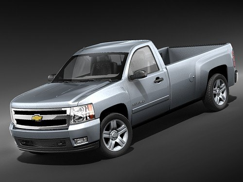 chevrolet silverado pickup regular 3d 3ds