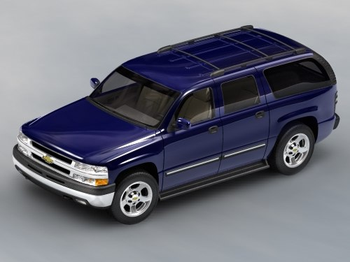 chevroelt suburban suv 3d model