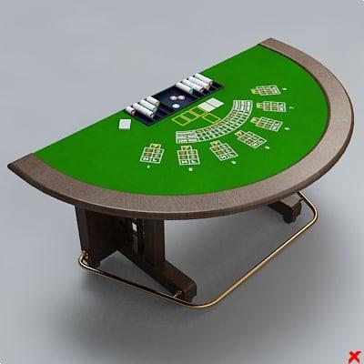 3d table card
