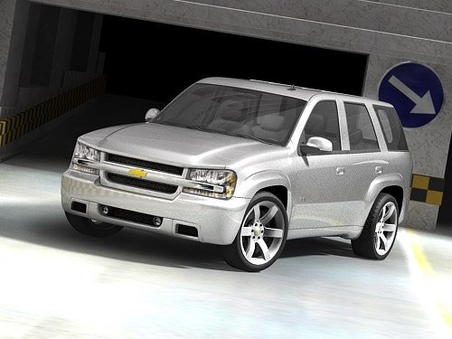 chevrolet trailblazer suv ss 3d model