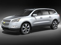 3d chevrolet traverse suv mid-poly