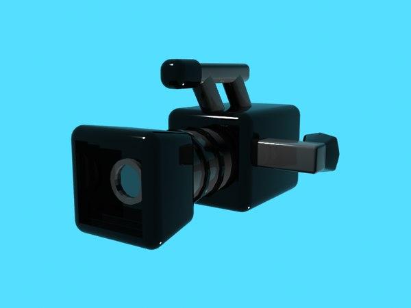 free video camera 3d model
