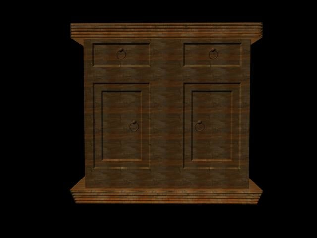 3ds max cabinet wooden