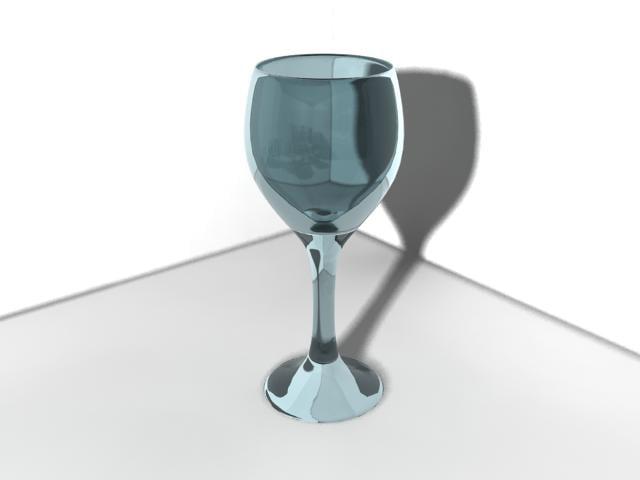 blue wine glass 3d max