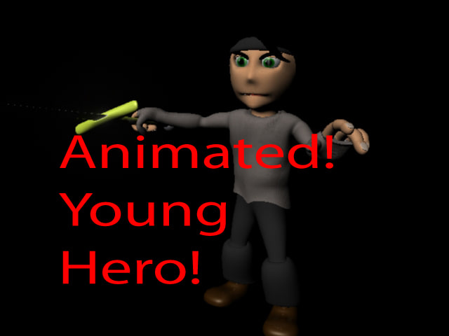 young warrior animations 3d model