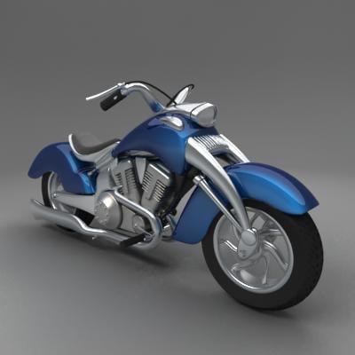 3d chopper bike model