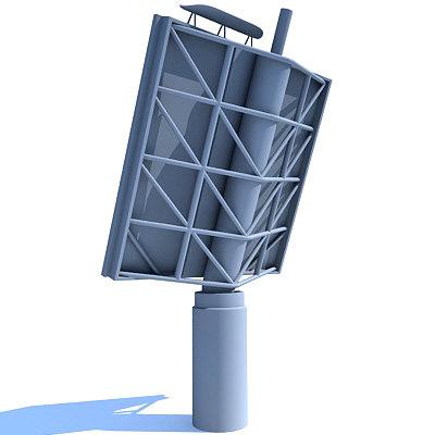 radar surveillance 3d model