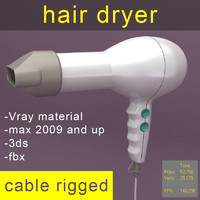 3d max hair dryer