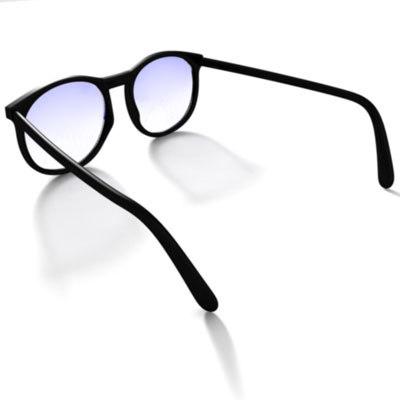 glasses black frame 3d obj