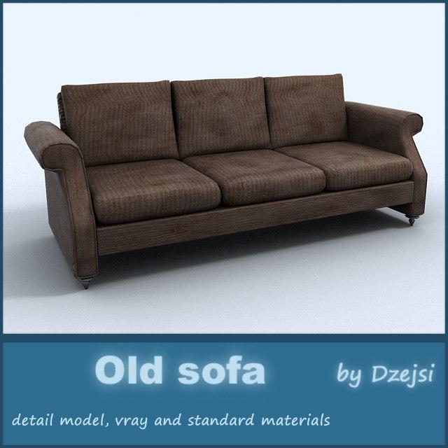 3d old sofa interior model